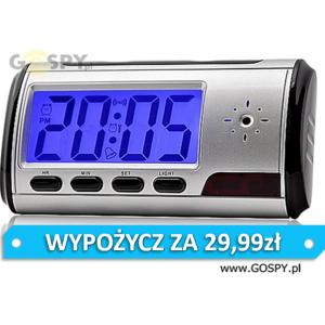 Budzik szpiegowski DVR-640