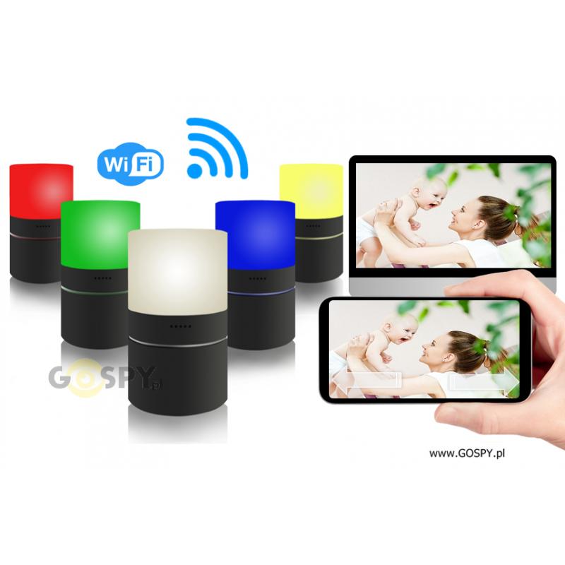 a07d1f2a1befb0 Lampa LED kamera FULL HD Wi-Fi obrotowy obiektyw P20| Gospy.pl